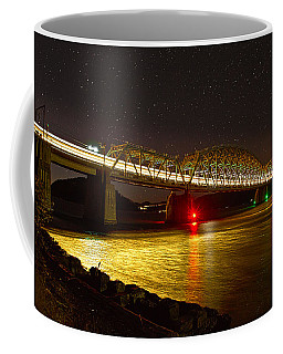 Train Lights In The Night Coffee Mug by Miroslava Jurcik