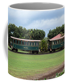 Coffee Mug featuring the photograph Train Lovers by Suzanne Luft