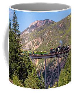 Train Over The Trestle Coffee Mug