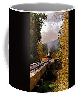 Train Through The Valley Coffee Mug