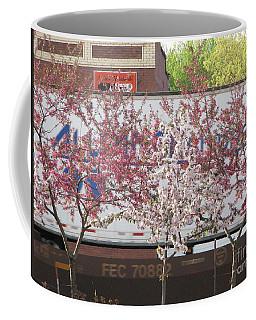 Coffee Mug featuring the photograph Train Tracks by Michael Krek