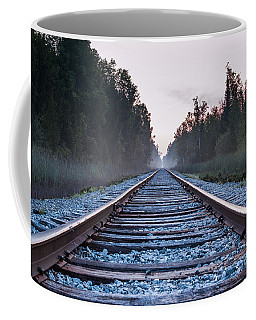 Coffee Mug featuring the photograph Train Tracks To Nowhere by Patrick Shupert