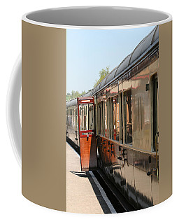 Coffee Mug featuring the photograph Train Transport by Susan Leonard