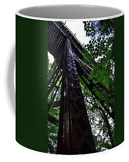 Train Trestle In The Woods Coffee Mug