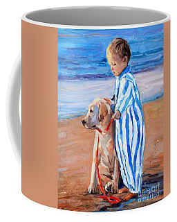 Coffee Mug featuring the painting Training Day by Molly Poole