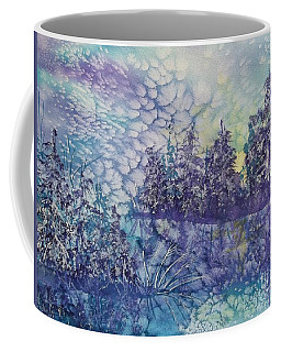 Coffee Mug featuring the painting Tranquility by Ellen Levinson