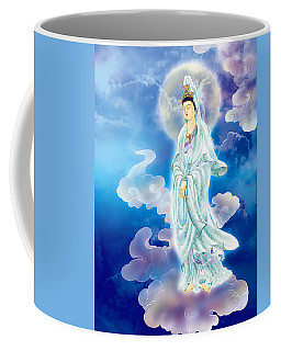 Coffee Mug featuring the photograph Tranquility Enabling Kuan Yin by Lanjee Chee