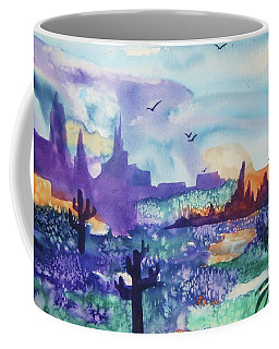 Coffee Mug featuring the painting Tranquility II by Ellen Levinson