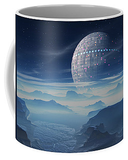 Tranus Alien Planet With Satellite Coffee Mug
