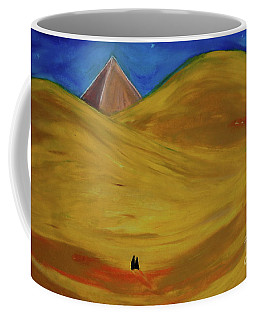 Coffee Mug featuring the drawing Travelers Desert by First Star Art