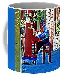 Traveling Piano Player Coffee Mug