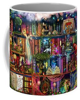 Fairytale Treasure Hunt Book Shelf Coffee Mug