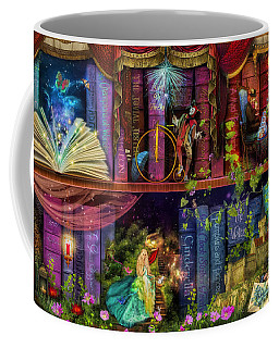 Fairytake Treasure Hunt Book Shelf Variant 4 Coffee Mug