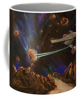 Coffee Mug featuring the mixed media Trek Adventure by Peter Suhocke