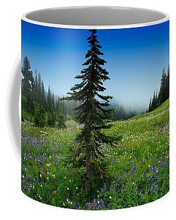 Tree Amongst Wildflowers Coffee Mug by Lynn Hopwood