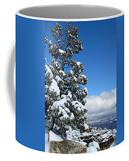 Coffee Mug featuring the photograph Tree At The Grand Canyon by Laurel Powell