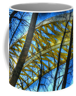 Coffee Mug featuring the photograph Tree Bridge Designs by Mel Steinhauer