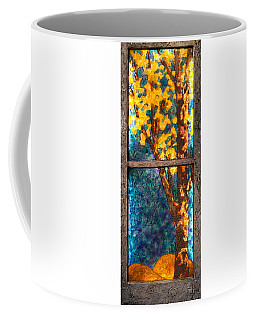 Tree Inside A Window Coffee Mug