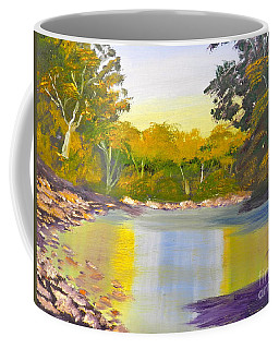 Tree Lined River Coffee Mug