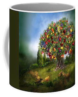 Tree Of Abundance Coffee Mug by Carol Cavalaris