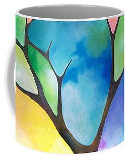 Original Art Abstract Art Acrylic Painting Tree Of Light By Sally Trace Fine Art Coffee Mug