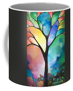 Original Art Abstract Art Acrylic Painting Tree Of Light By Sally Trace Fine Art Coffee Mug