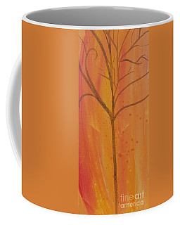 Tree Of Three Coral Coffee Mug by Robin Maria Pedrero