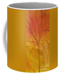 Tree Of Three Gold Coffee Mug by Robin Maria Pedrero