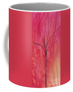 Tree Of Three Pink Coffee Mug by Robin Maria Pedrero