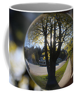 Tree On The Street Coffee Mug by Cathie Douglas