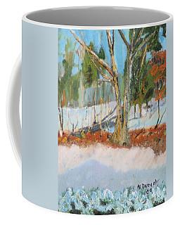 Trees And Snow Plein Air Coffee Mug