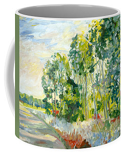 Trees By A Road Coffee Mug