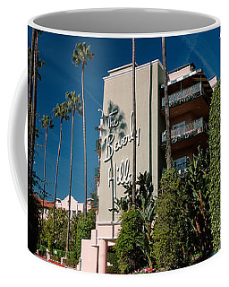 Trees In Front Of A Hotel, Beverly Coffee Mug