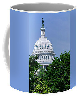 Trees In Spring And U.s. Capitol Dome Coffee Mug