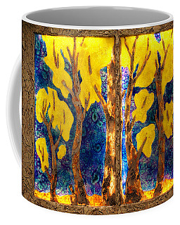 Trees Inside A Window Coffee Mug