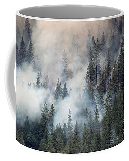 Beaver Fire Trees Swimming In Smoke Coffee Mug