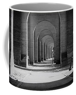 Coffee Mug featuring the photograph Trestle Wards Island by Dave Beckerman