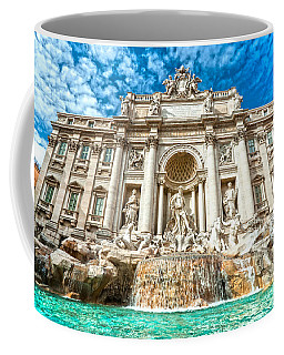 Trevi Fountain - Rome Coffee Mug by Luciano Mortula