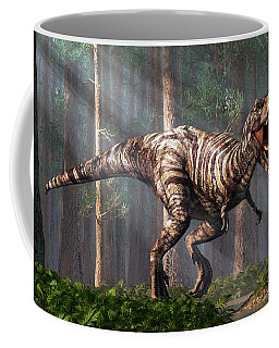 Trex In The Forest Coffee Mug