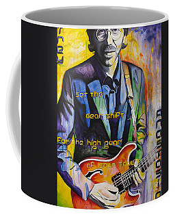 Coffee Mug featuring the painting Trey Anastasio And Antelope Lryics by Joshua Morton