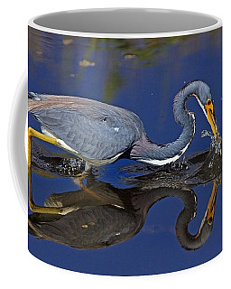 Tri Color Heron Splash Coffee Mug
