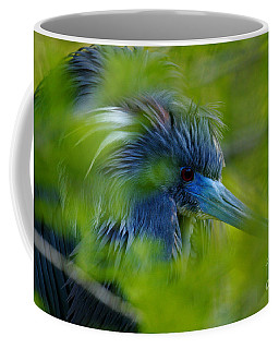 Coffee Mug featuring the photograph Tri-colored Heron Concealed    by John F Tsumas