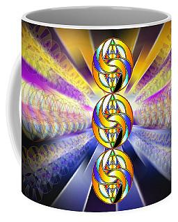 Coffee Mug featuring the drawing Tri-crescent Yin Yang by Derek Gedney
