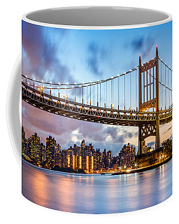 Triboro Bridge At Dusk Coffee Mug by Mihai Andritoiu