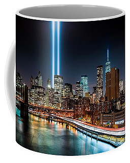 Tribute In Light Memorial Coffee Mug by Mihai Andritoiu