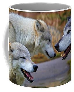 Triple Take Painted Coffee Mug