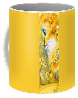 Triumph - Yellow Abstract Art By Sharon Cummings Coffee Mug
