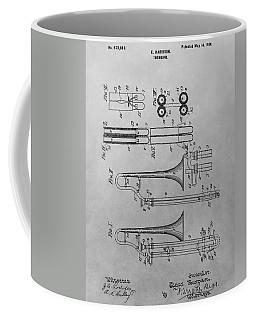 Trombone Patent Drawing Coffee Mug