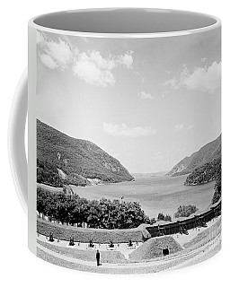Trophy Point North Fro West Point In Black And White Coffee Mug