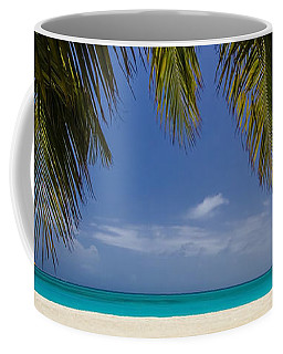 Tropical Beach Scene In 3 To1 Aspect Ratio Coffee Mug